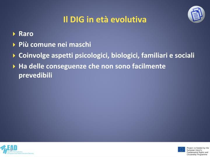 Il DIG in età evolutiva