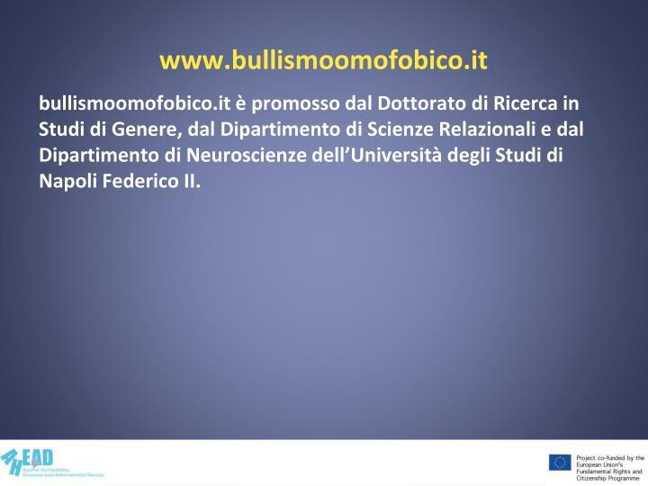 www.bullismoomofobico.it