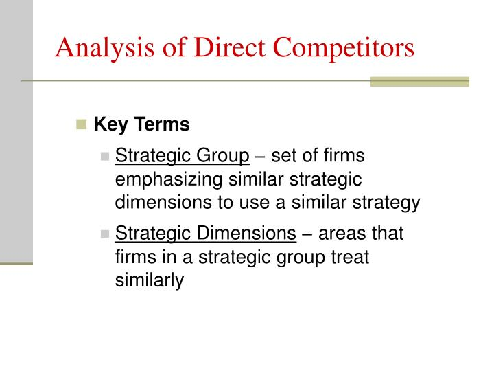 Analysis of Direct Competitors