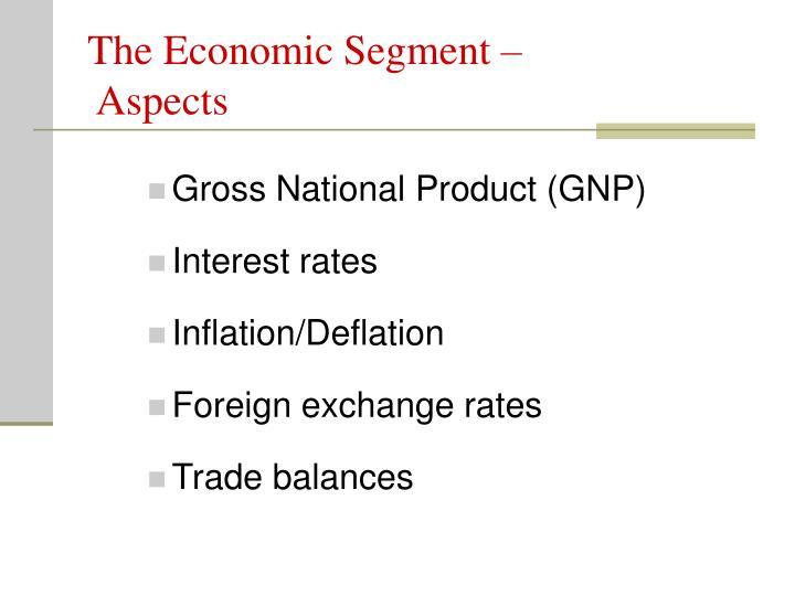The Economic Segment –