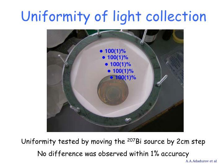 Uniformity of light collection