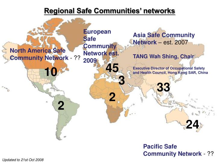 Regional Safe Communities' networks