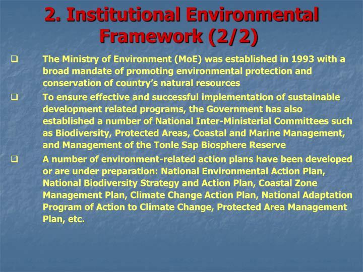 2. Institutional Environmental Framework (2/2)