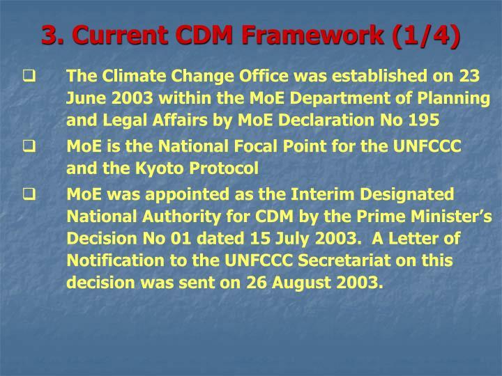 3. Current CDM Framework (1/4)