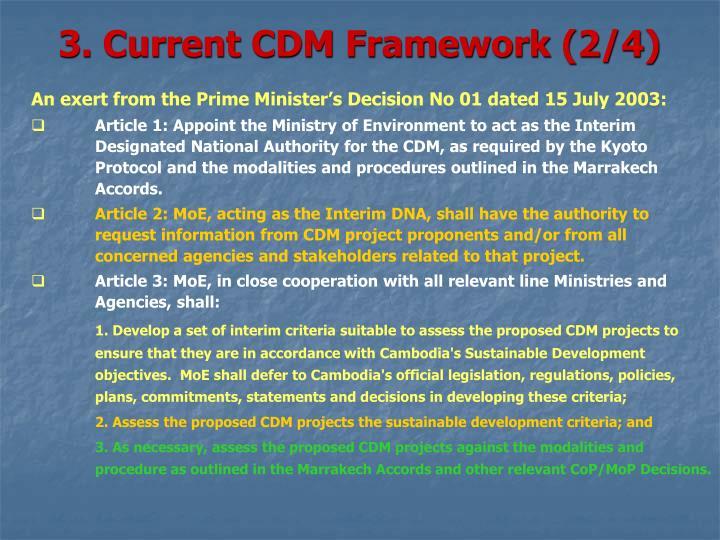 3. Current CDM Framework (2/4)