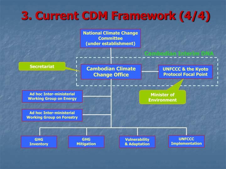 3. Current CDM Framework (4/4)