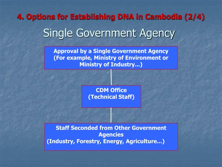 4. Options for Establishing DNA in Cambodia (2/4)