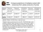compare predictions of multipole content with tolerances from james jones s kuroda