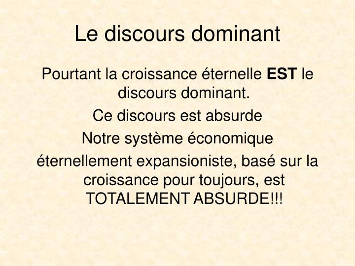 Le discours dominant