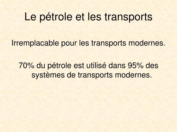 Le ptrole et les transports