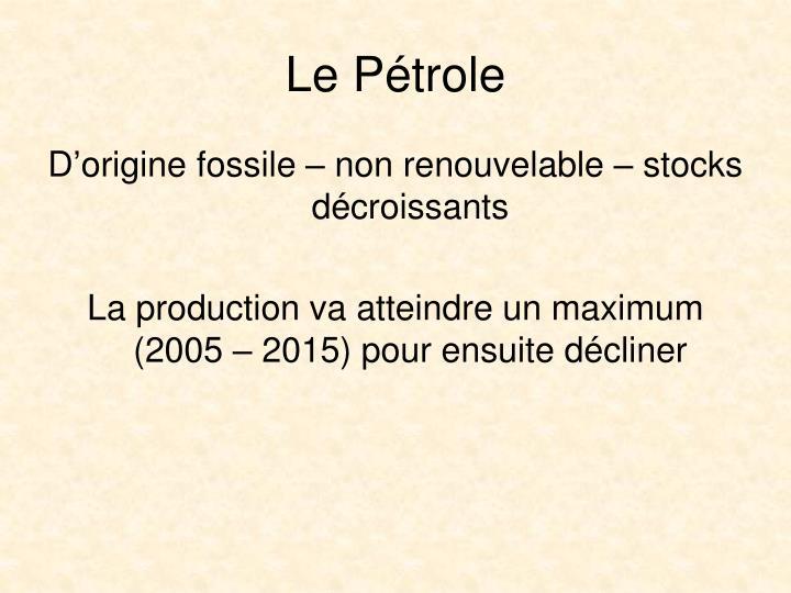 Le Ptrole