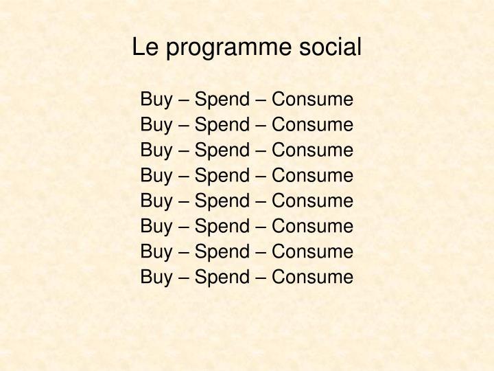 Le programme social