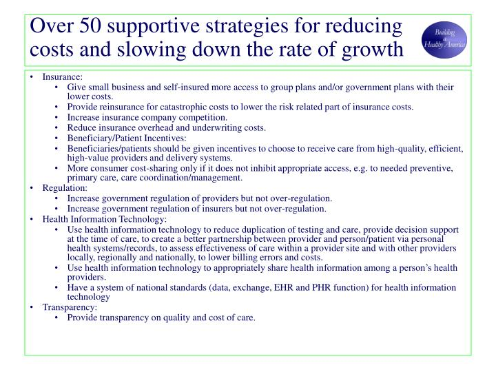 Over 50 supportive strategies for reducing