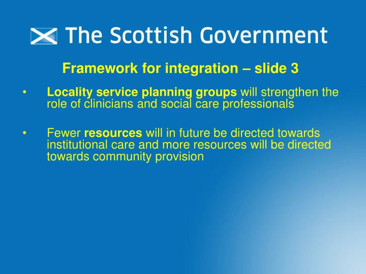 Framework for integration – slide 3
