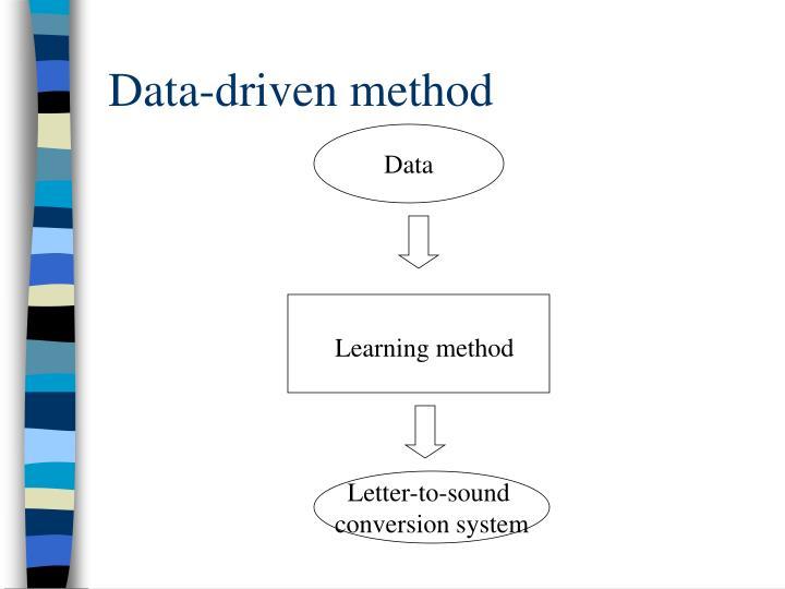 Data-driven method