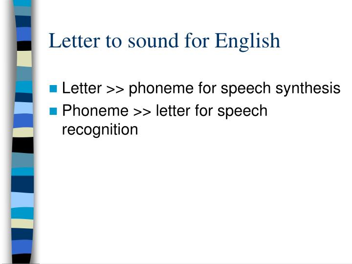 Letter to sound for English