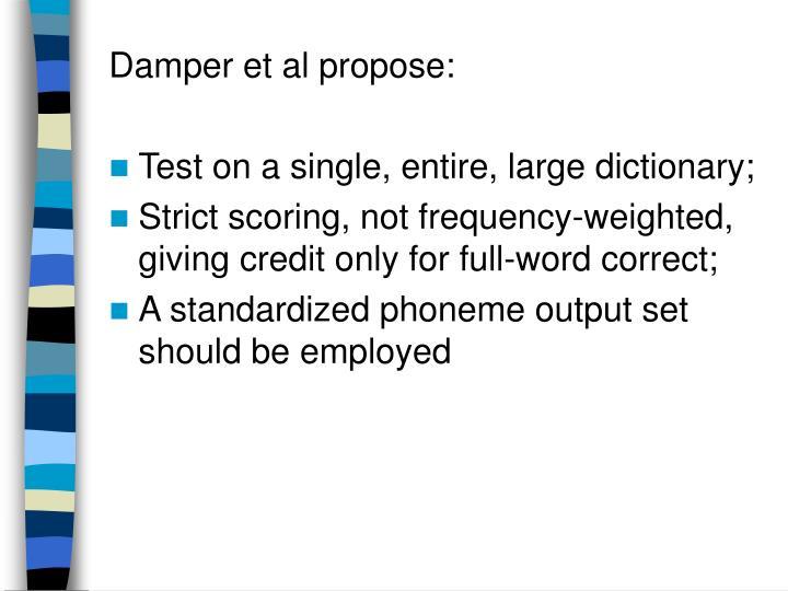 Damper et al propose: