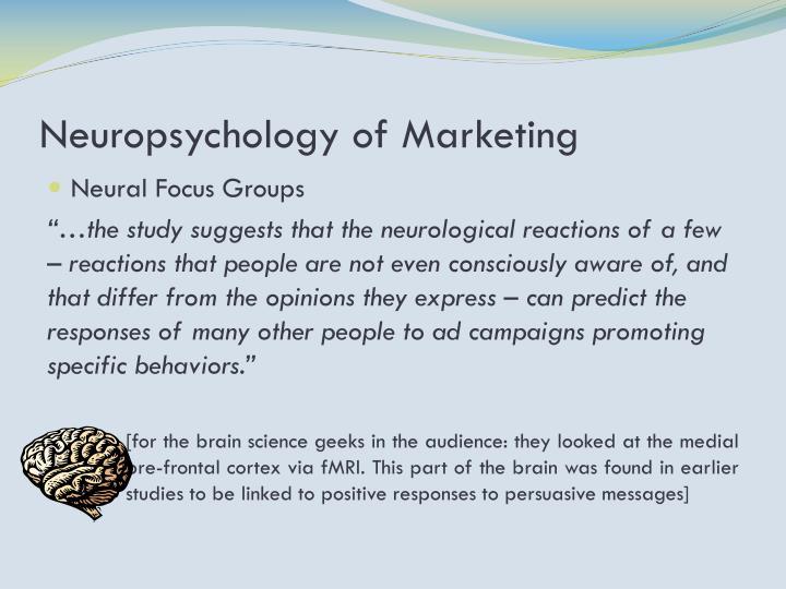 Neuropsychology of Marketing