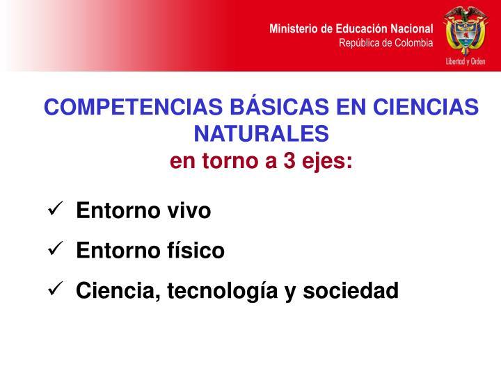 COMPETENCIAS BÁSICAS EN CIENCIAS NATURALES