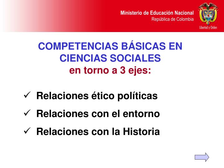 COMPETENCIAS BÁSICAS EN CIENCIAS SOCIALES