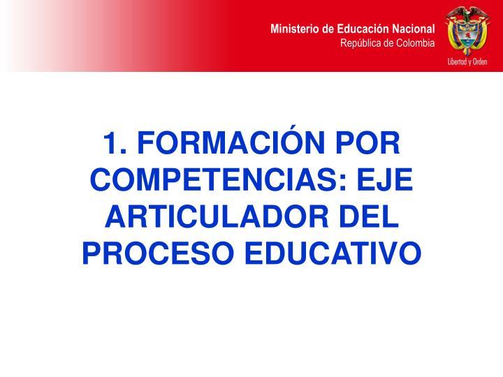 1. FORMACIÓN POR COMPETENCIAS: EJE ARTICULADOR DEL PROCESO EDUCATIVO