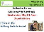 missionary presentation