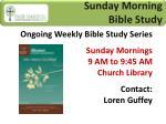sunday morning bible study