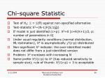 chi square statistic