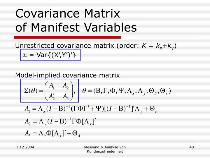 Covariance Matrix