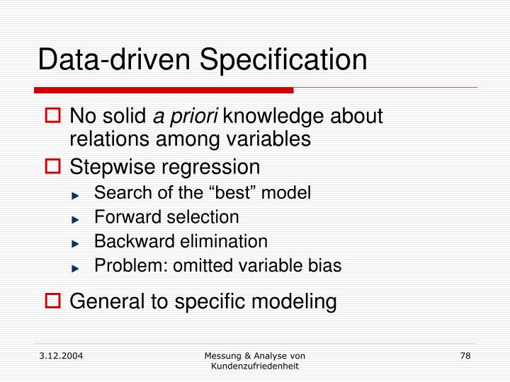 Data-driven Specification