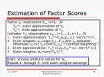 estimation of factor scores