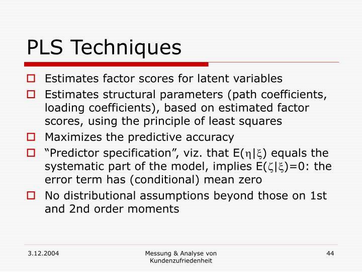 PLS Techniques