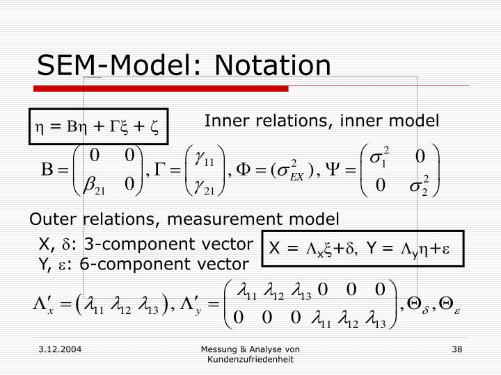 SEM-Model: Notation
