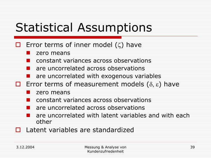 Statistical Assumptions