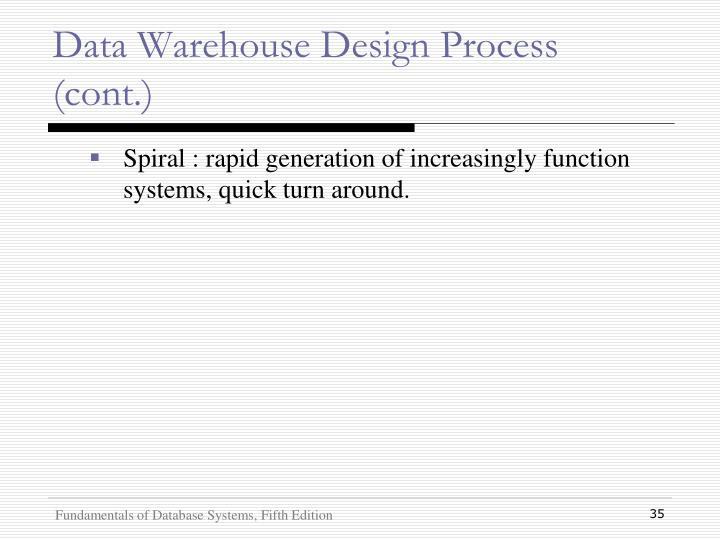 Data Warehouse Design Process (cont.)