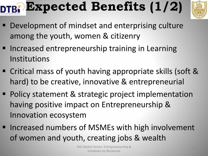 Expected Benefits (1/2)