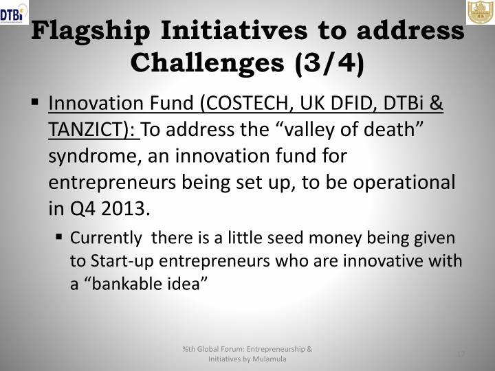 Flagship Initiatives to address Challenges (3/4)