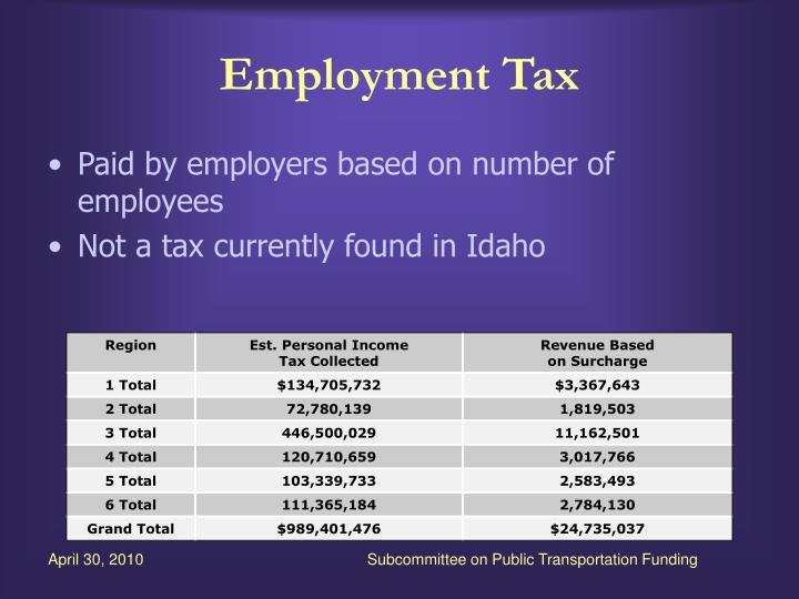Employment Tax