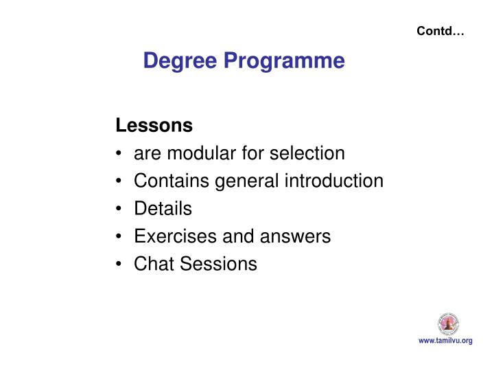 Degree Programme