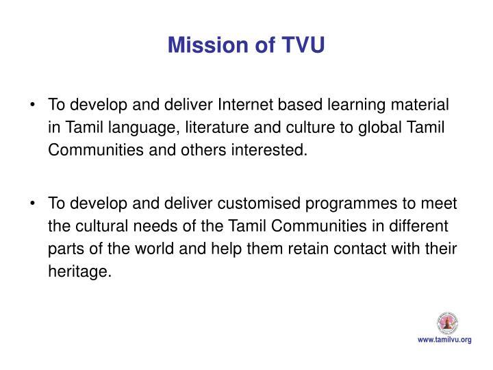 Mission of TVU