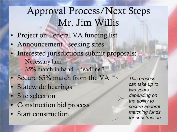 Approval Process/Next Steps