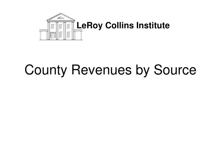 County revenues by source