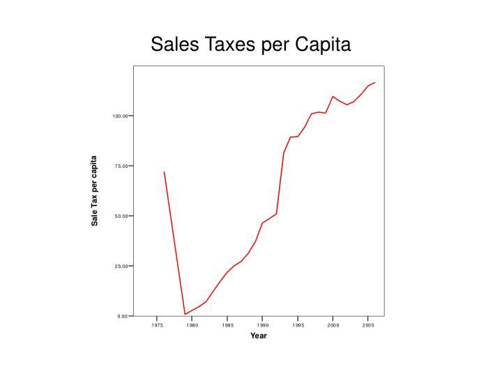 Sales Taxes per Capita