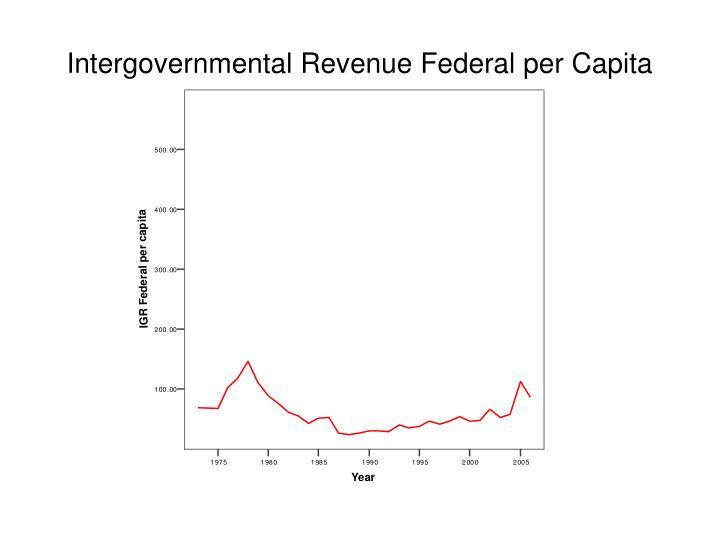 Intergovernmental Revenue Federal per Capita