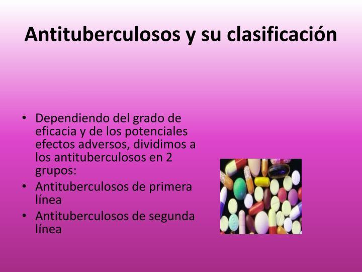 Antituberculosos y su clasificación