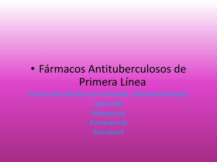 Fármacos Antituberculosos de Primera Línea