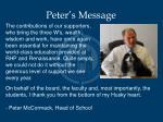 peter s message2