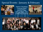special events january february