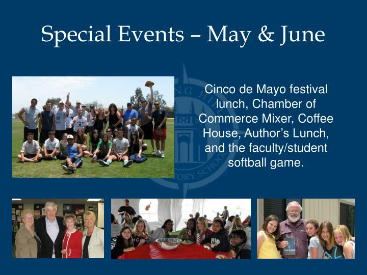 Special Events – May & June
