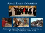 special events november